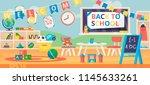 back to school banner... | Shutterstock .eps vector #1145633261