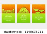 set of india country ornament... | Shutterstock .eps vector #1145635211
