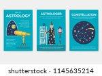 astrology house brochure cards... | Shutterstock .eps vector #1145635214