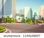 city car parking over... | Shutterstock .eps vector #1145638007