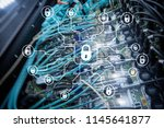 cyber security  data protection ... | Shutterstock . vector #1145641877