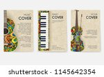 set of musical ornament... | Shutterstock .eps vector #1145642354