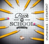 back to school design with... | Shutterstock .eps vector #1145649047