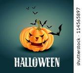 vector scary halloween design...   Shutterstock .eps vector #114565897