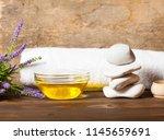 a bottle of star anise... | Shutterstock . vector #1145659691