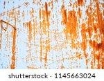 rusted white painted metal wall....   Shutterstock . vector #1145663024