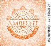ambient orange mosaic emblem | Shutterstock .eps vector #1145663504