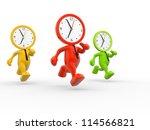 3d people   men  person running ... | Shutterstock . vector #114566821