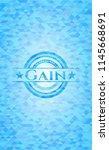 gain sky blue emblem. mosaic... | Shutterstock .eps vector #1145668691