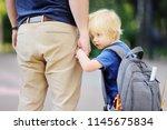 back to school concept. little... | Shutterstock . vector #1145675834