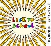 hand drawn vector doodle back... | Shutterstock .eps vector #1145676134