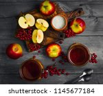 autumn tea drink  compote  from ... | Shutterstock . vector #1145677184
