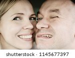 Small photo of man and woman make funny faces