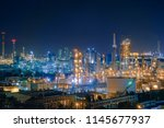 oil and gas refinery industry... | Shutterstock . vector #1145677937