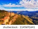 three sisters rock cliffs...   Shutterstock . vector #1145691641