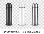 vector realistic 3d black ... | Shutterstock .eps vector #1145693261