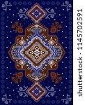 indian rug tribal ornament... | Shutterstock .eps vector #1145702591