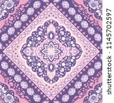 indian rug paisley ornament... | Shutterstock .eps vector #1145702597