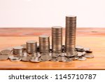 graph coins stock finance and... | Shutterstock . vector #1145710787