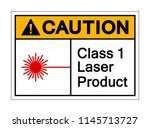 caution class 1 laser product... | Shutterstock .eps vector #1145713727