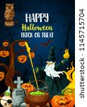halloween holiday trick or... | Shutterstock .eps vector #1145715704