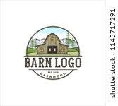 logo design for barn wood | Shutterstock .eps vector #1145717291