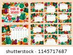 back to school monthly calendar ... | Shutterstock .eps vector #1145717687
