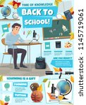 back to school information... | Shutterstock .eps vector #1145719061
