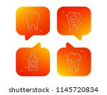 tooth  dental crown and... | Shutterstock .eps vector #1145720834