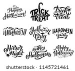 happy halloween trick or treat... | Shutterstock .eps vector #1145721461