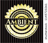 ambient gold shiny badge | Shutterstock .eps vector #1145723261