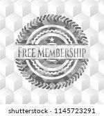 free membership grey emblem.... | Shutterstock .eps vector #1145723291