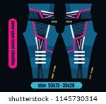 leggings pants fashion... | Shutterstock .eps vector #1145730314