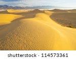 Desert Landscape With Blue Sky...