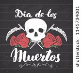 day of the dead  lettering... | Shutterstock . vector #1145734001