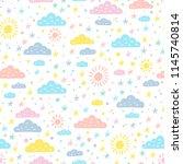 weather background. sky... | Shutterstock .eps vector #1145740814