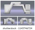 3d gate entrance for exhibition.... | Shutterstock .eps vector #1145746724
