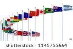 g20 flag isolated silk waving... | Shutterstock . vector #1145755664
