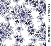 abstract seamless pattern with... | Shutterstock .eps vector #1145758061