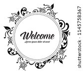 greeting card welcome with...   Shutterstock .eps vector #1145758367