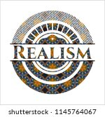 realism arabic badge background.... | Shutterstock .eps vector #1145764067