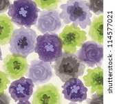painted floral seamless pattern | Shutterstock . vector #114577021