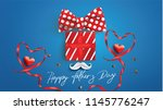 happy father s day greeting... | Shutterstock .eps vector #1145776247