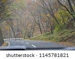 curvy mountain road. shoot... | Shutterstock . vector #1145781821