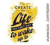 inspirational quote  motivation.... | Shutterstock .eps vector #1145782004
