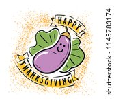 thanksgiving day. logo  text... | Shutterstock .eps vector #1145783174