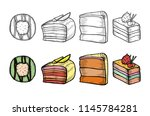 desserts and sweets color... | Shutterstock .eps vector #1145784281