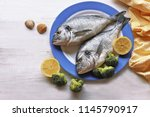 dorado fish  with lemon ...   Shutterstock . vector #1145790917