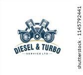 logo design for turbo engine | Shutterstock .eps vector #1145792441