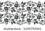 seamless vector black and white ... | Shutterstock .eps vector #1145793341